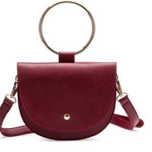 Burgundy Convertible Wristlet/Crossbody Waist Bag